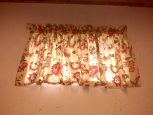 After - Not so ugly curtains.