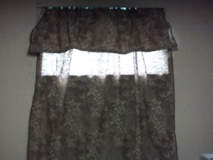 Before - Ugly Curtains!