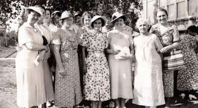 Members of Woodlawn Homemakers Club in Attendance at the County Homemaker Club Achievement Day - Kidder County Extension Records - Kidder County, North Dakota http://heritagerenewal.org/coteau/kidder/index.htm